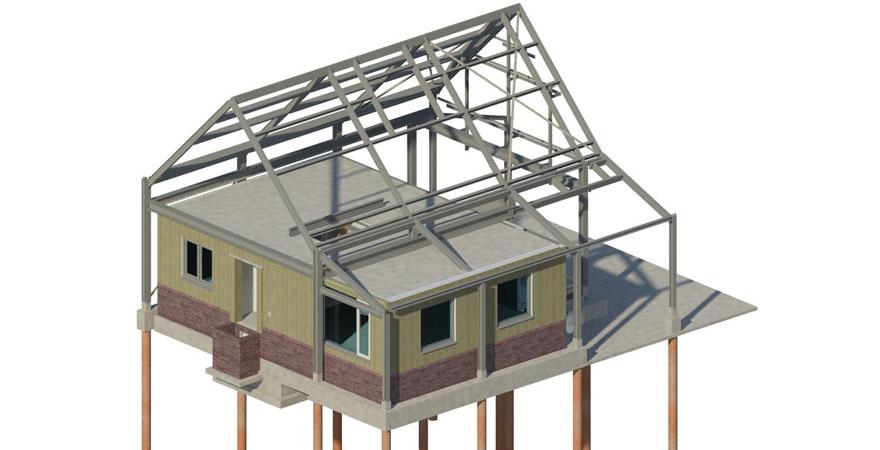 Bouwen over bestaande bungalow met staalconstructie