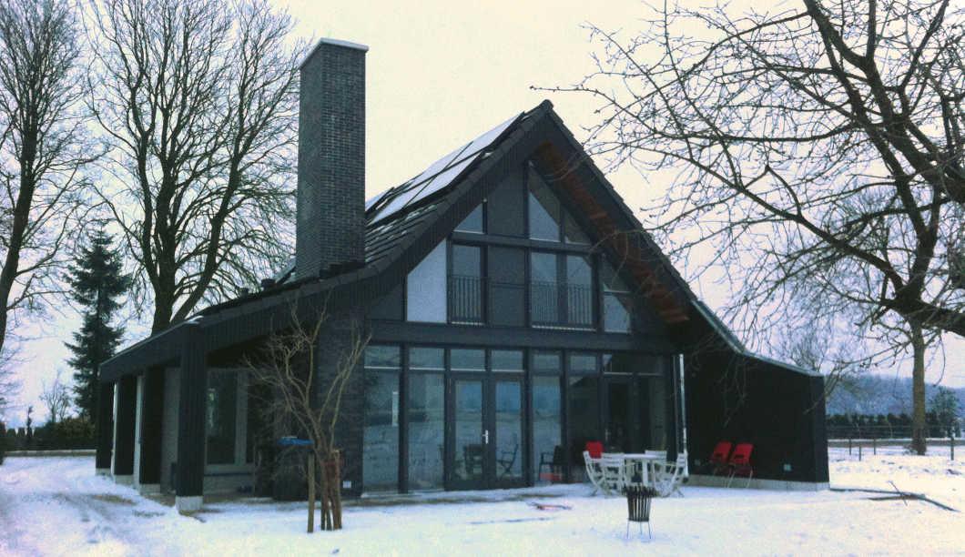 Typologie moderne boerenschuur architectuur.