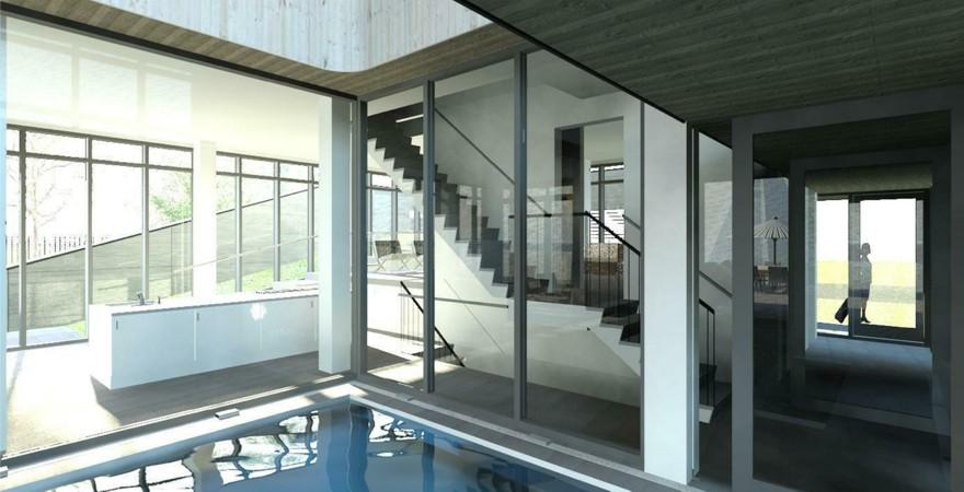 Woonvilla aan de waterkering te cuijk architectengilde uw architect voor bijzondere ontwerpen - Trap binnen villa ...