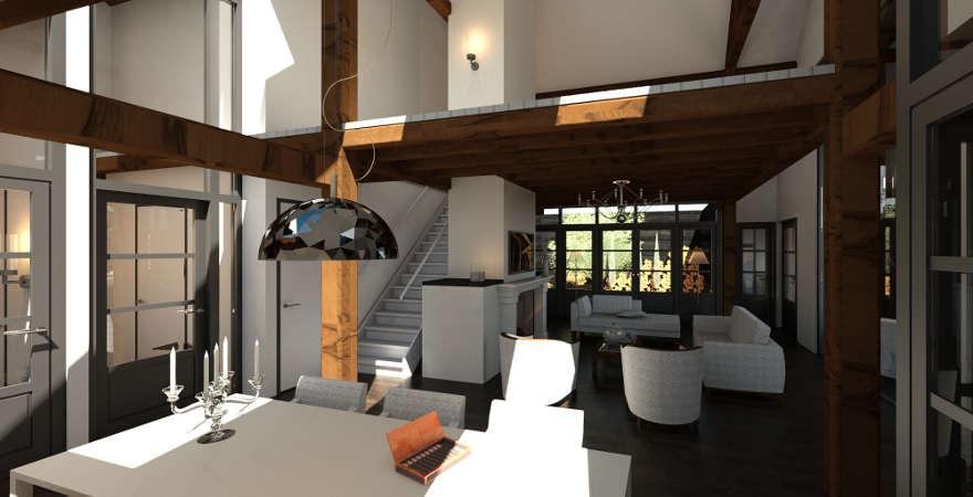 Ontwerp exterieur en interieur woonboerderij ...