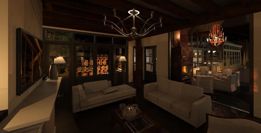 Ontwerp exterieur en interieur woonboerderij for Interieur verlichting