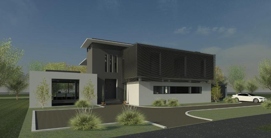 Moderne villa ontwerp platdak