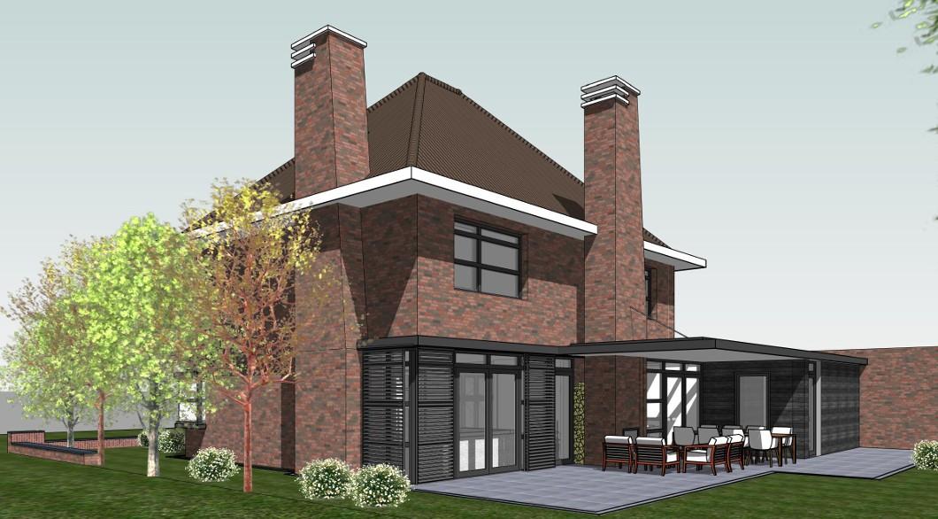 Architectuur chique dertiger jaren woning architectengilde uw architect voor bijzondere - Moderne buitenkant indeling ...