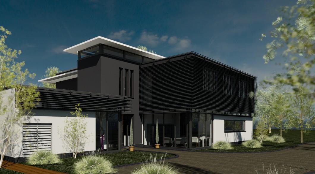 Ontwerp moderne en luxe villa te vught architectengildearchitectengilde uw architect voor - Entree eigentijds huis ...