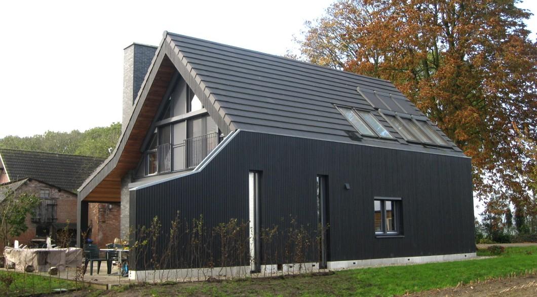 Moderne landelijke woning met veranda architectengilde uw architect voor bijzondere ontwerpen - Oude huis gevel ...