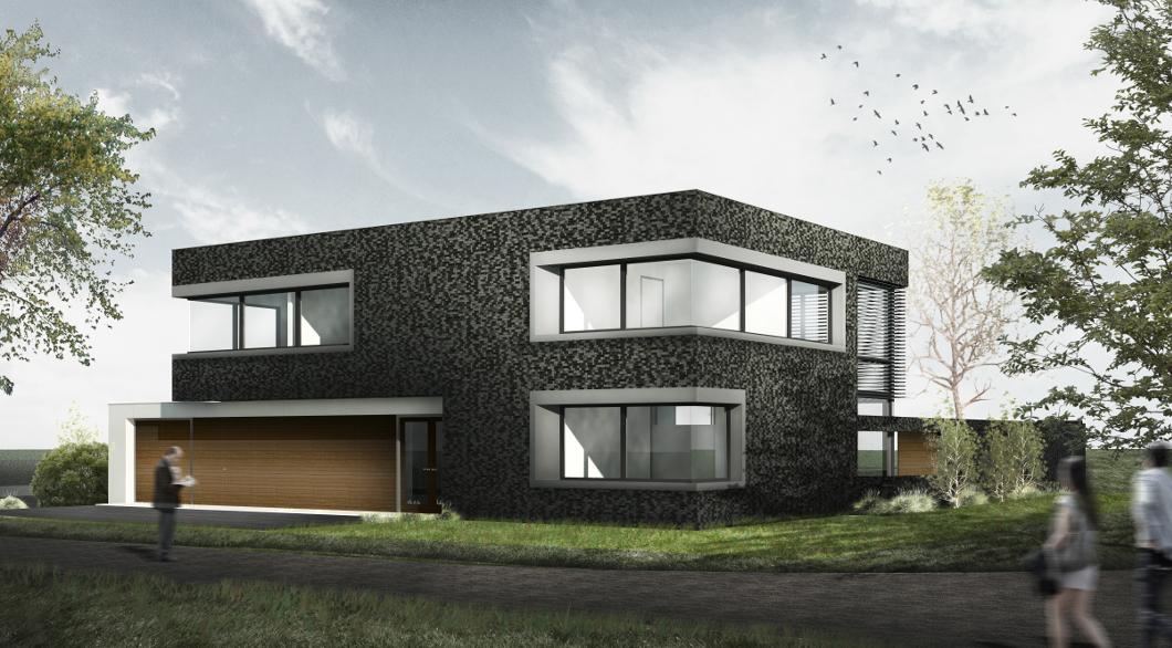 Moderne woonvilla met bijzondere materialen architectengilde uw architect voor bijzondere - De gevels van de huizen ...