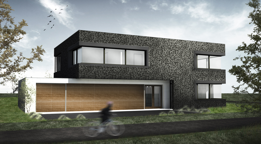 Moderne woonvilla met bijzondere materialen architectengilde uw architect voor bijzondere - Moderne entree meubels ...