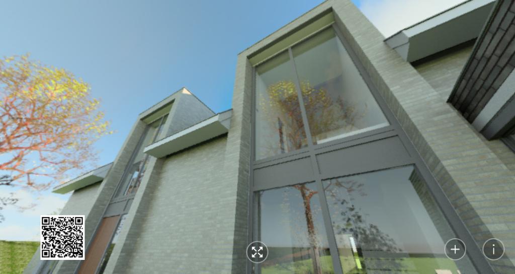 Panorama Entree Portalen ontwerp huis Vlijmen