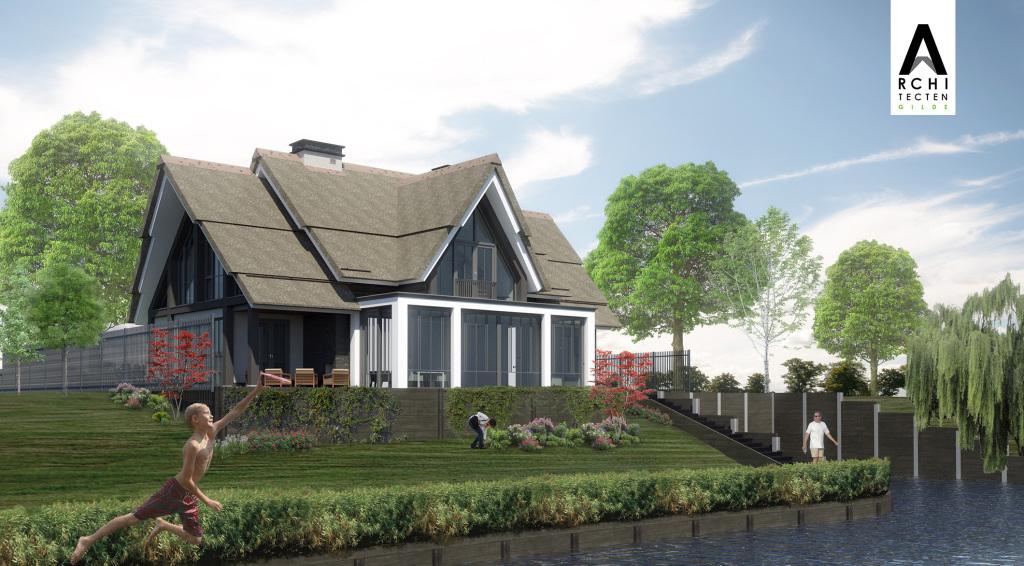 Eerste Villa in aanbouw Waterfront De Veene te Altena 2120x1172