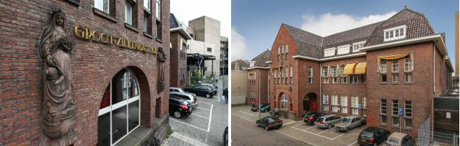 Ons architectenbureau is gevestigd in de voormalige polikliniek van het Groot Ziekengasthuis te 's-Hertogenbosch.