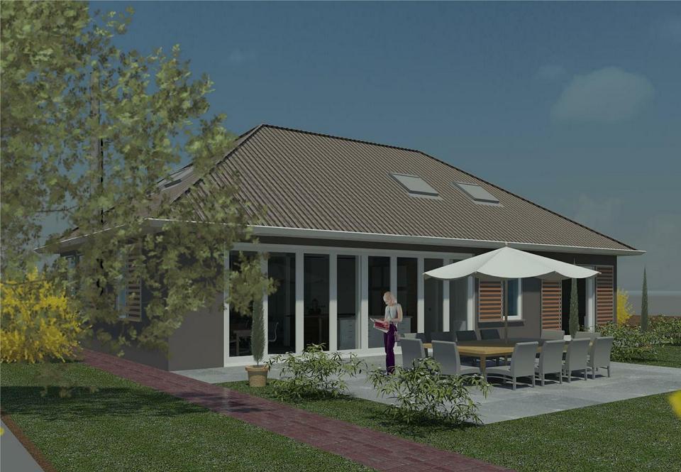 Architect 's-Hertogenbosch renovatieplan achtergevel beleving tuin te Wijk en Aalburg