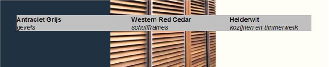 Kleurenstaat Woningrenovatie restyling Antracietgrijze gevel Helderwit houtwerk Western-Red-Cedar_schuifframes