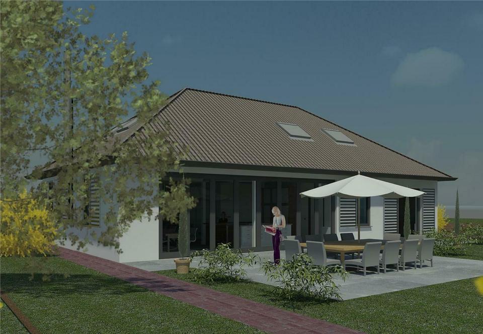 Kleurvariant woningrenovatie ontwerp, locatie Gemeente Aalburg, architect 's-Hertogebosch