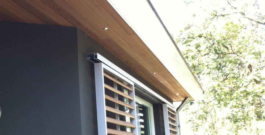 Warme houtkleur, door Western Red Cedar plafond.