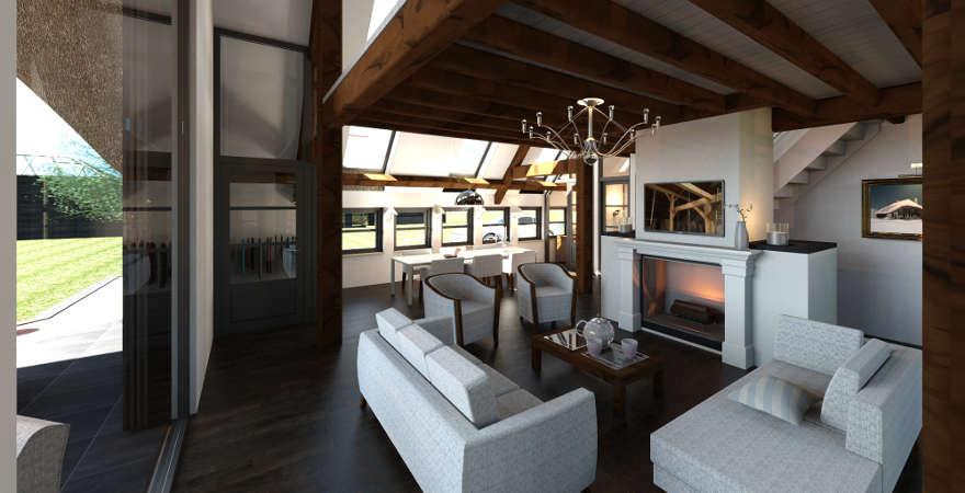 Luxe Interieur Ontwerp : Ontwerp exterieur en interieur woonboerderij