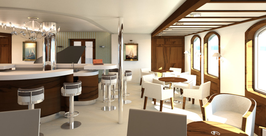 Interieur Lounge Main Deck sail yacht design