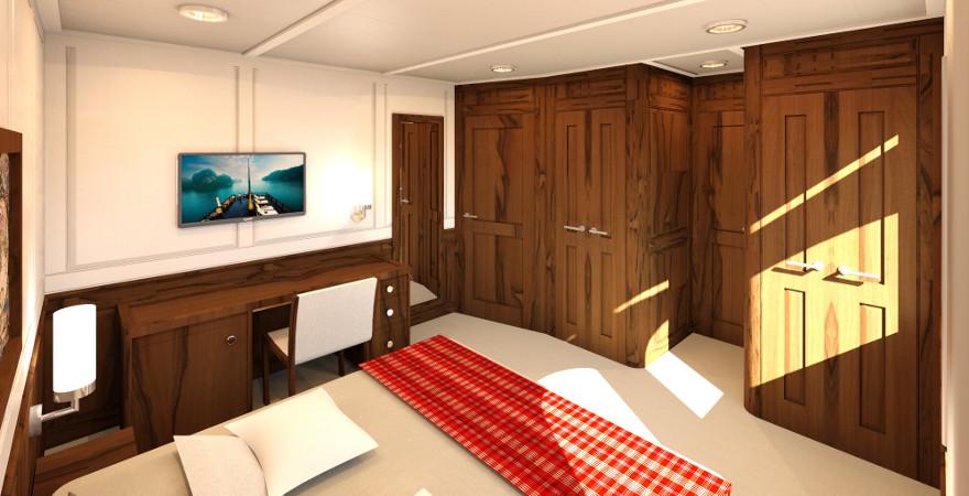 Interieur jacht ontwerp hut schip