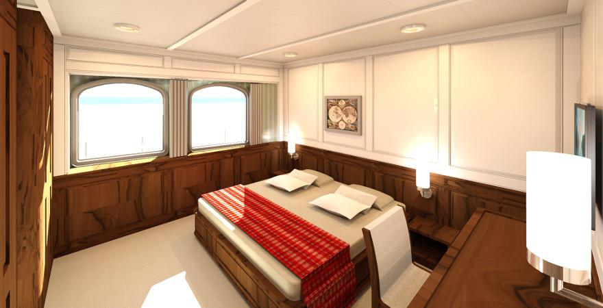 Interieur design | Sail yacht's VIP-cabin