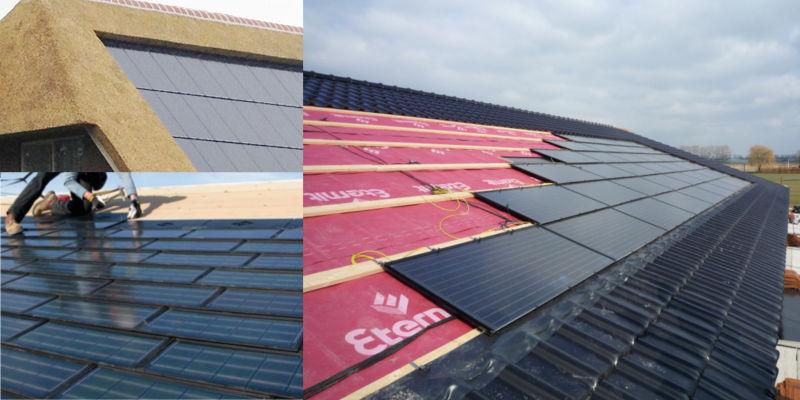 Zonnecellen volledig geintegreerdin hellend dak