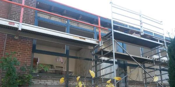 renovatie: nieuw kozijn, nieuwe dakrand