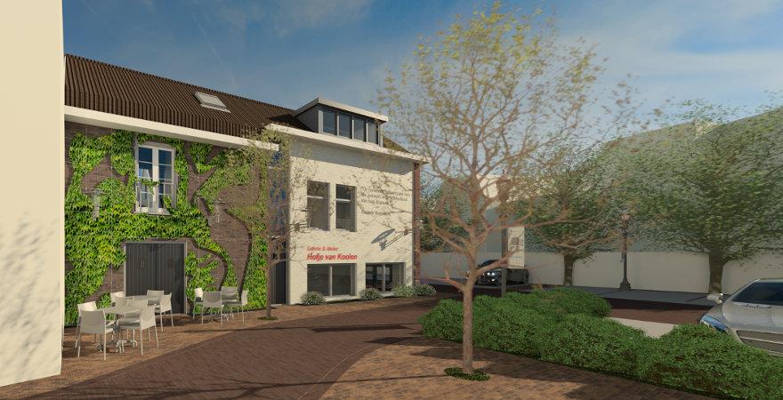 Galerie-Atelier met Tearoom en Bovenwoning met B&B-gastenverblijf te Den Bosch