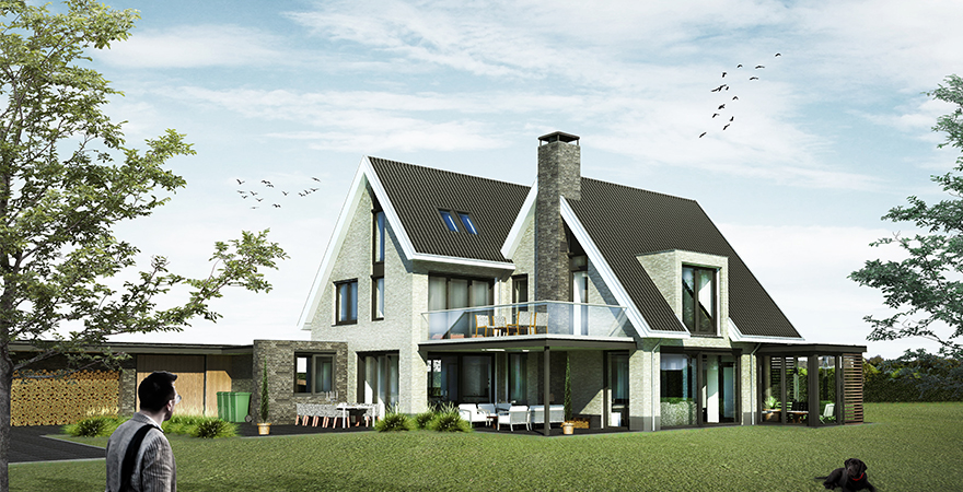 Luxe riante levensloopbestendige woonvilla, tot energieneutraal te bouwen aan de Heidijk te Vlijmen