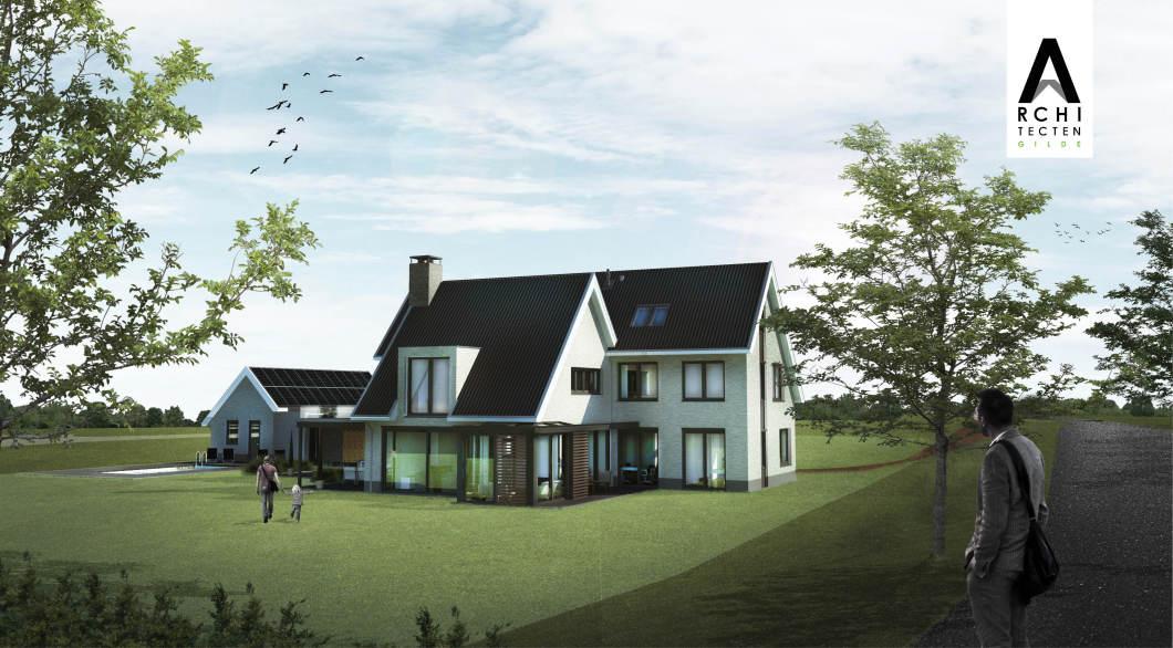 Luxe riante woonvilla serre hellend dak dakpannen Heidijk Vlijmen