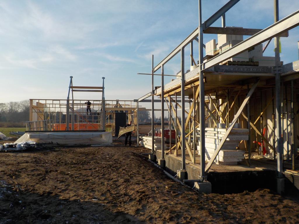 Staalconstructie Post & Beam Betonnen vloeren woning