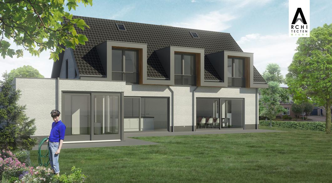 Portaal dakkapellen grote schuifpuien daglicht ontwerp verbouw woning
