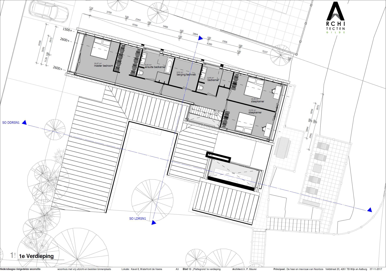 Plattegrond verdieping woning | ArchitectenGilde