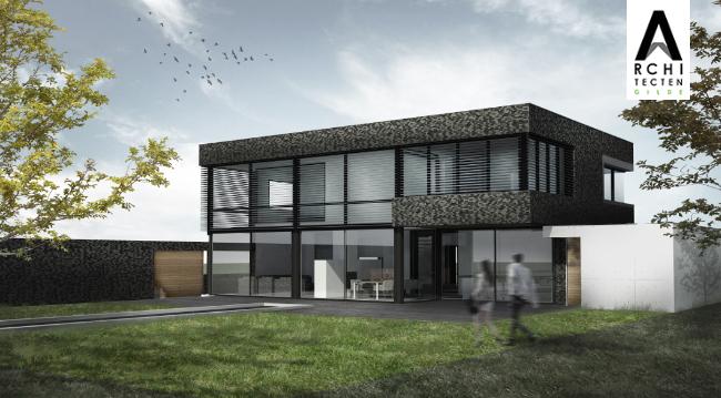 Afbeelding: Moderne villa met bijzondere materialen