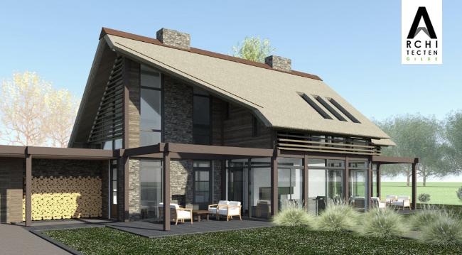 Afbeelding: Moderne villa met veel glas door post & beam