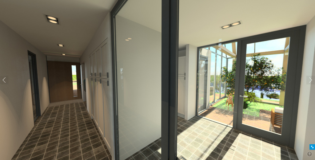 360 pano interieur entree woonvilla waterfront