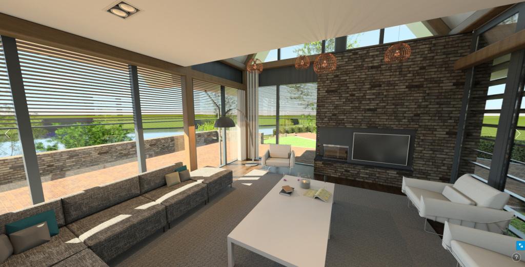 360 pano interieur woonkamer eikenhout schoorsteen