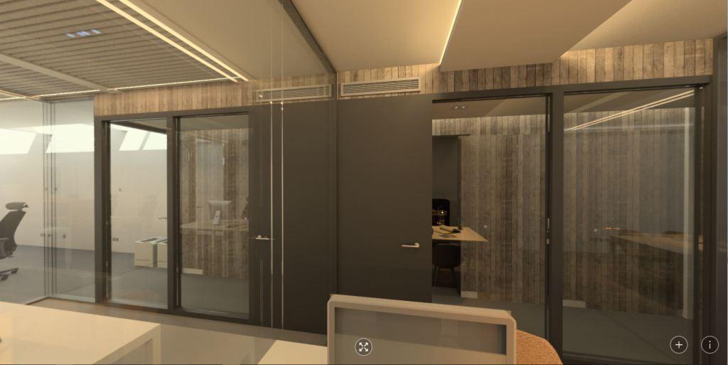 360 panorama: kantoor werkkamer