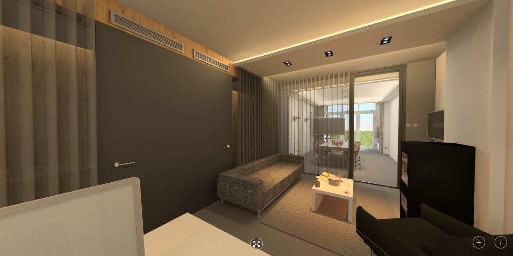 360 panorama: sfeervolle kantoorruimte atelier