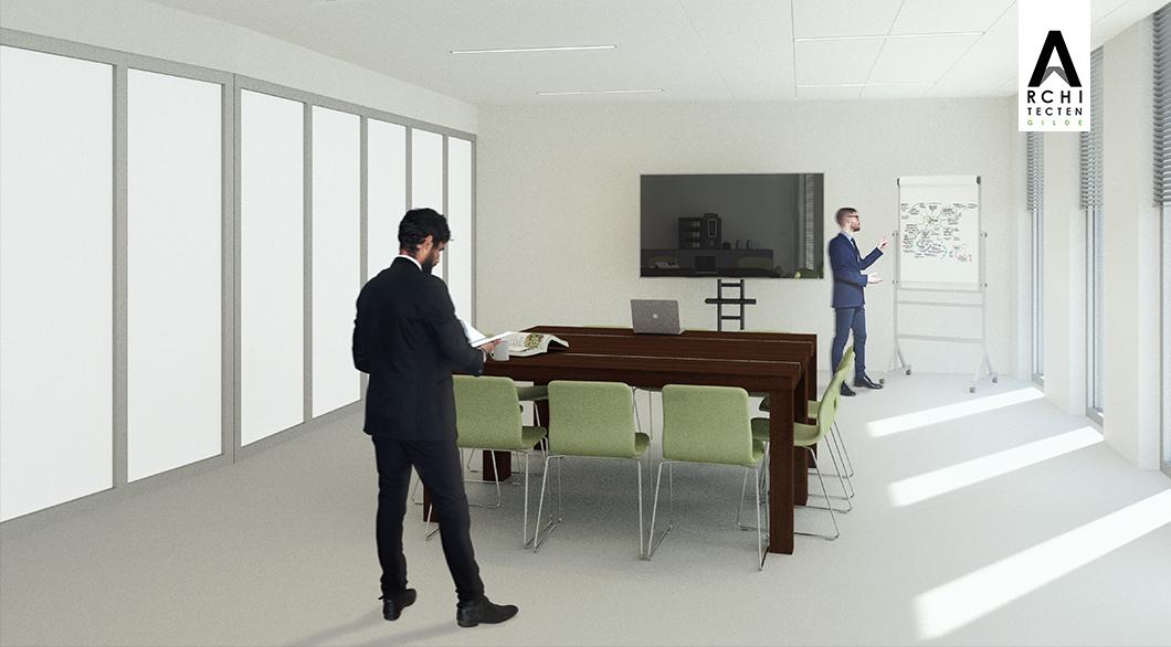 Herinrichting kantoor - optie 1 (vergaderen) (2)