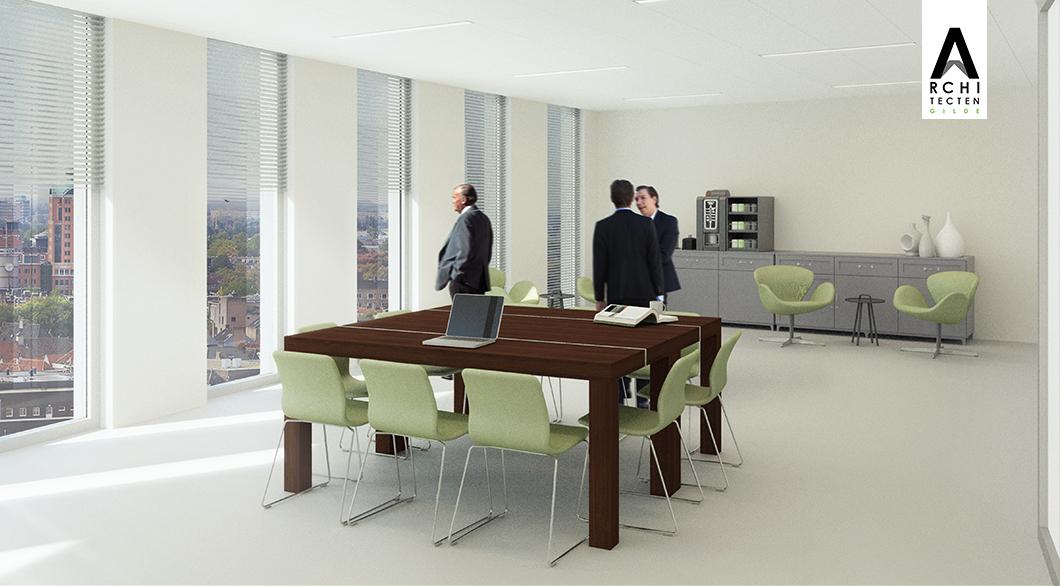 Herinrichting kantoor - optie 1 (vergaderen)