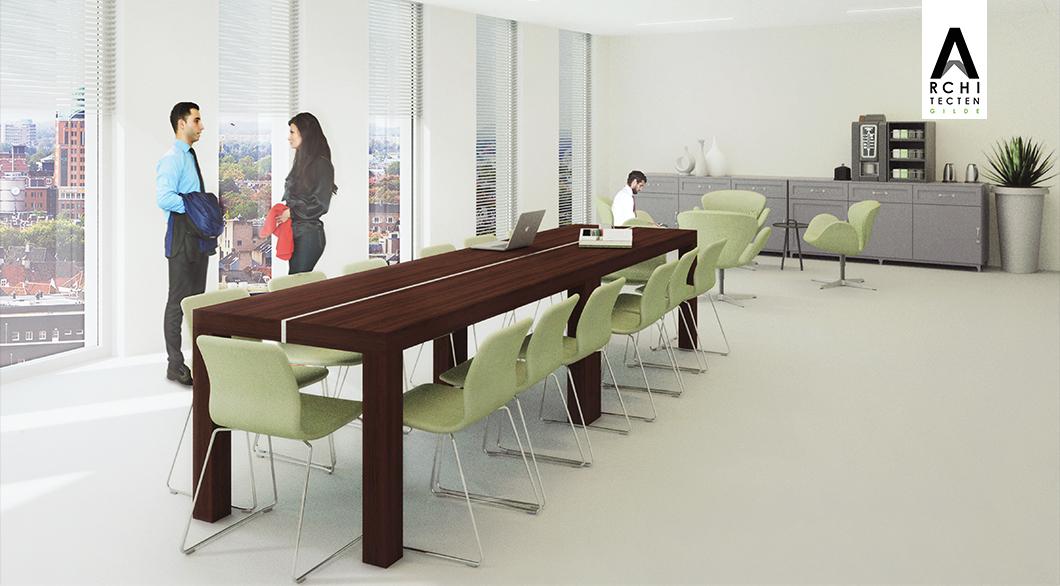 Herinrichting kantoor - optie 2 (vergaderen)