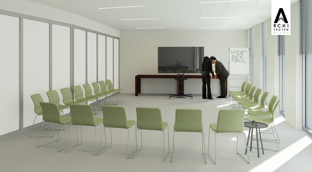Herinrichting kantoor - optie 3 (presenteren)