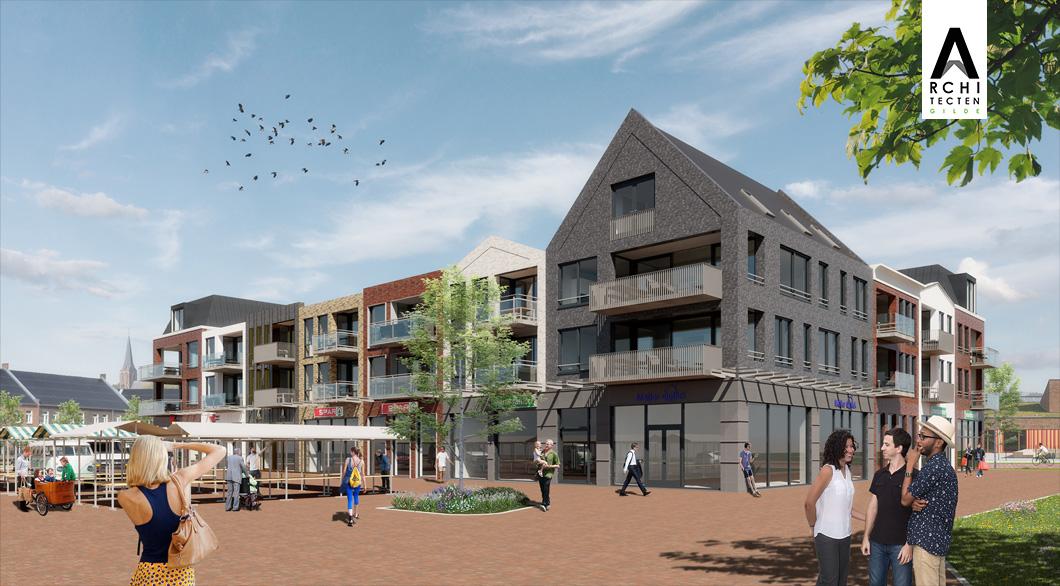 Statig appartementen-gebouw Centrumplan Giessen Rijswijk