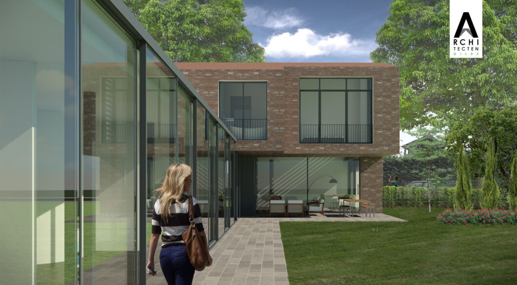 Rosmalen Architect ontwerp woning langs glazengevel 2120x1172