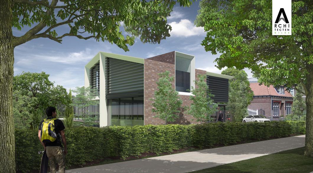 Rosmalen Architect ontwerp woning modern strak jaren 30 Linksvoor 1060x586