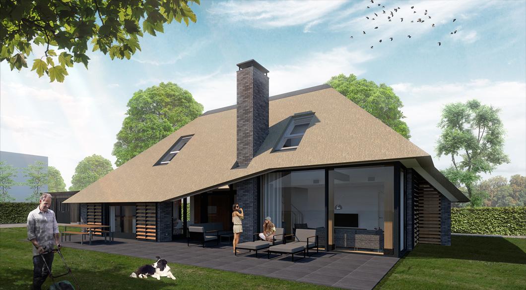 Vlaamse woonboerderij woning rieten dak